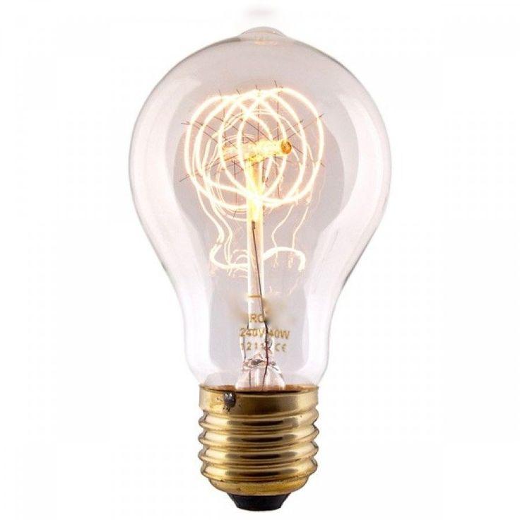 Bombilla clásica de filamento 40W #bombillas #filamento #rustico #retro #vintage #decoracion #interiorismo #iluminacion #lamparas