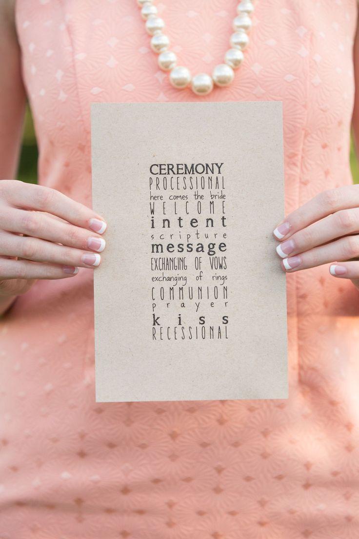 DIY Simple Ceremony Programs