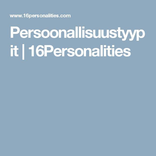 Persoonallisuustyypit | 16Personalities