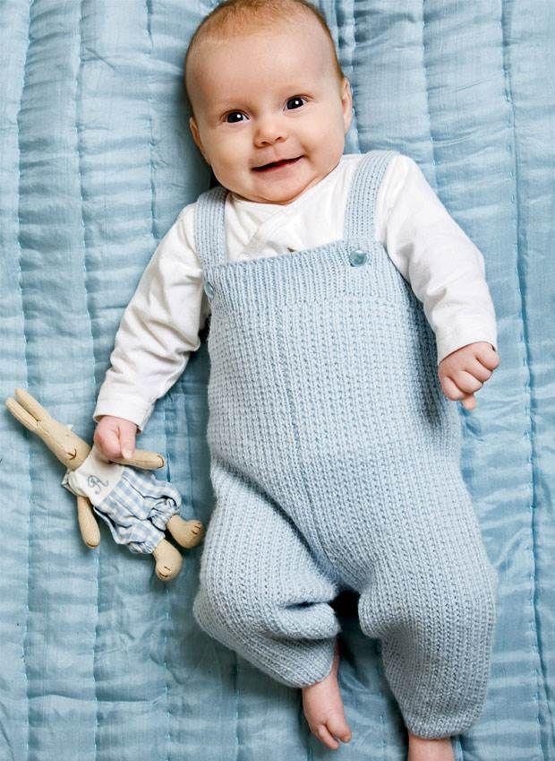 Strikkede bukser i god gammeldags stil.