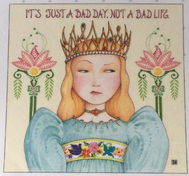 Its Just A Bad Day-Handmade Fridge Magnet-Mary Engelbreit Artwork