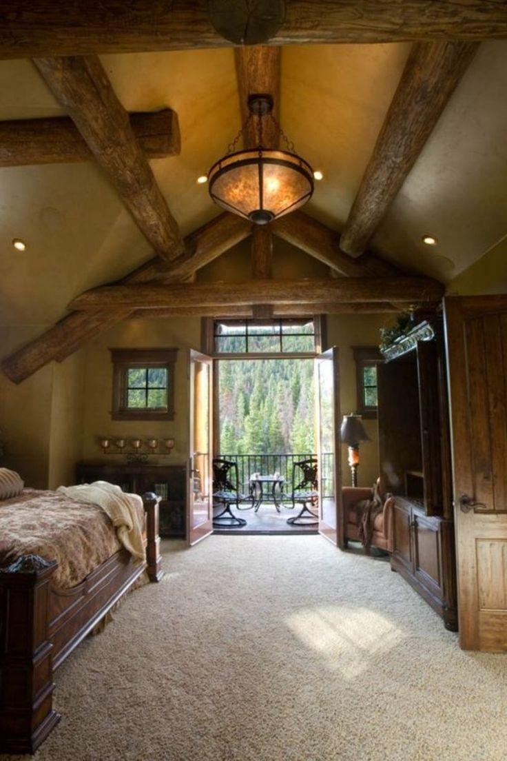 dream master bedroom%0A    Extraordinary Rustic Log Home Bedrooms