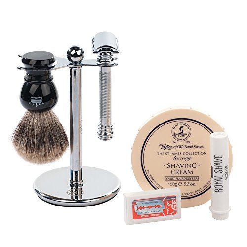 Merkur Barber Pole 38C 6 Piece Wet Shaving Set (Sandalwood)