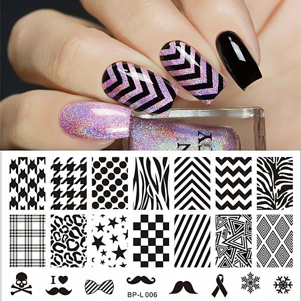 BORN PRETTY Selected Classic Patterns Nail Art Stamp Template