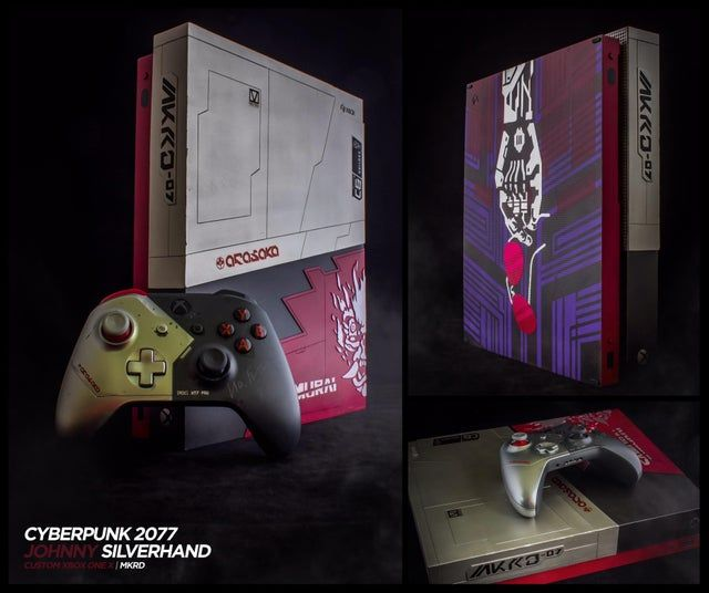 Couldn T Get My Hands On The Xbox One X Cyberpunk 2077 Edition In 2020 Custom Consoles Cyberpunk 2077 Console