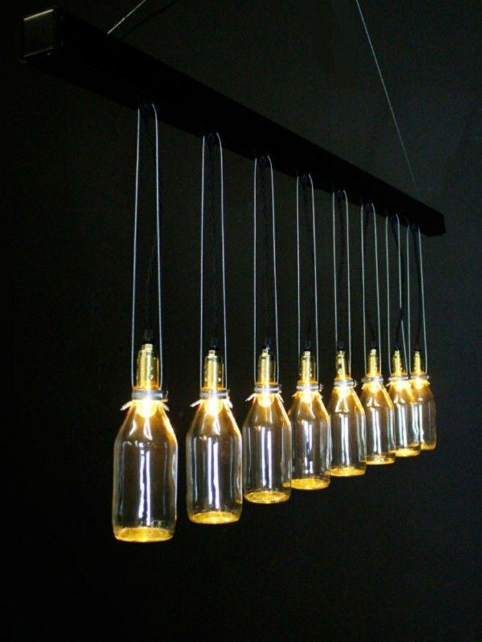 Ausgefallene Lampen Leuchter Basteln Milchflaschen