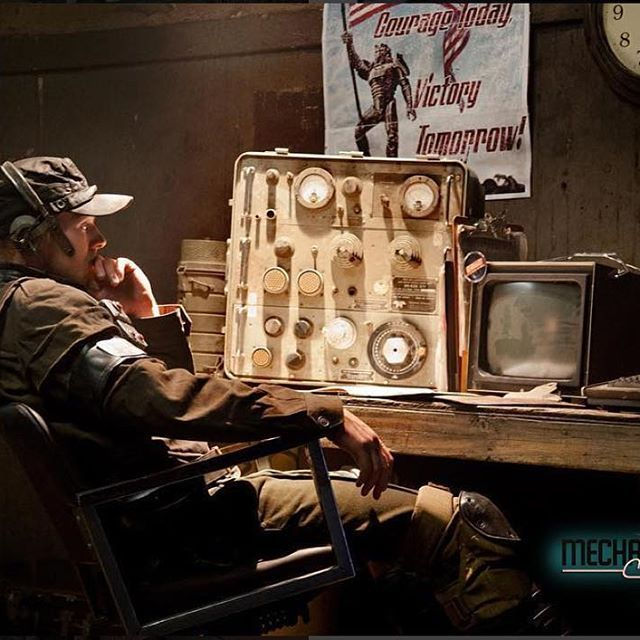enclave officer uniform cosplay. enclave officer monitors radio chatter #liveactionfallout #liveactiondlc #fallout #fallout4 #fallout3 # uniform cosplay