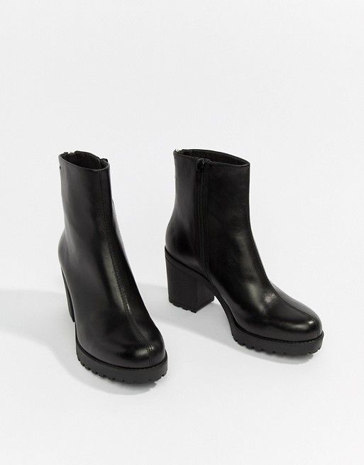 2dca3598a25f Vagabond Grace CHUNKY Leather Ankle Boot in 2019