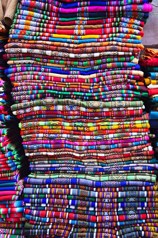 Blankets  La Paz, Bolivia  Bolivia is the inspiration behind the latest collection at Obus clothing. http://obus.com.au/