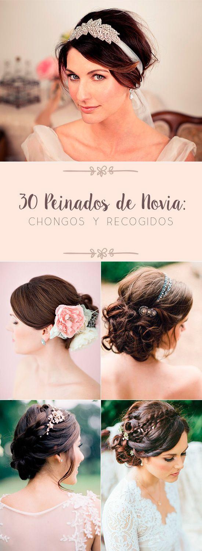30 Peinados de Novia: Chongos y Recogidos | El Blog de una Novia | #novias #peinadodenovia
