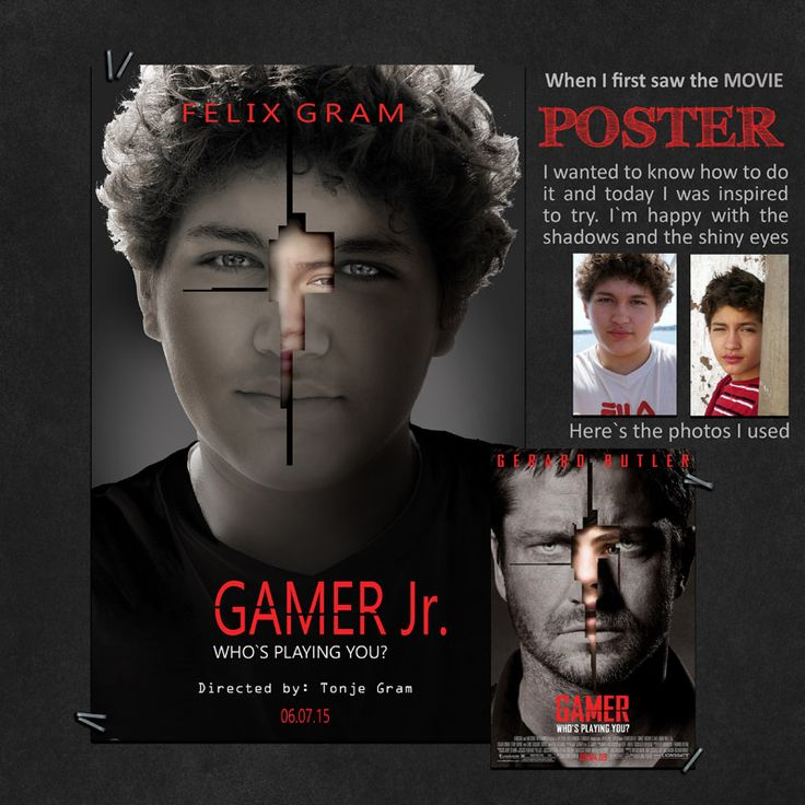 My son, Felix, on a poster. This was fun to make. I used: Secret Agent by Just for Fun Designs and Leaving a Legacy www.scraps-n-pieces.com #FelixGram, #MovePoster, #Gamer