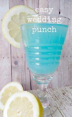 Easy Tiffany Blue Wedding Punch