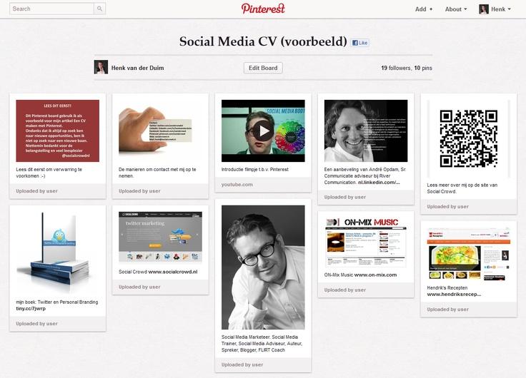 Pinterest Social Media CV
