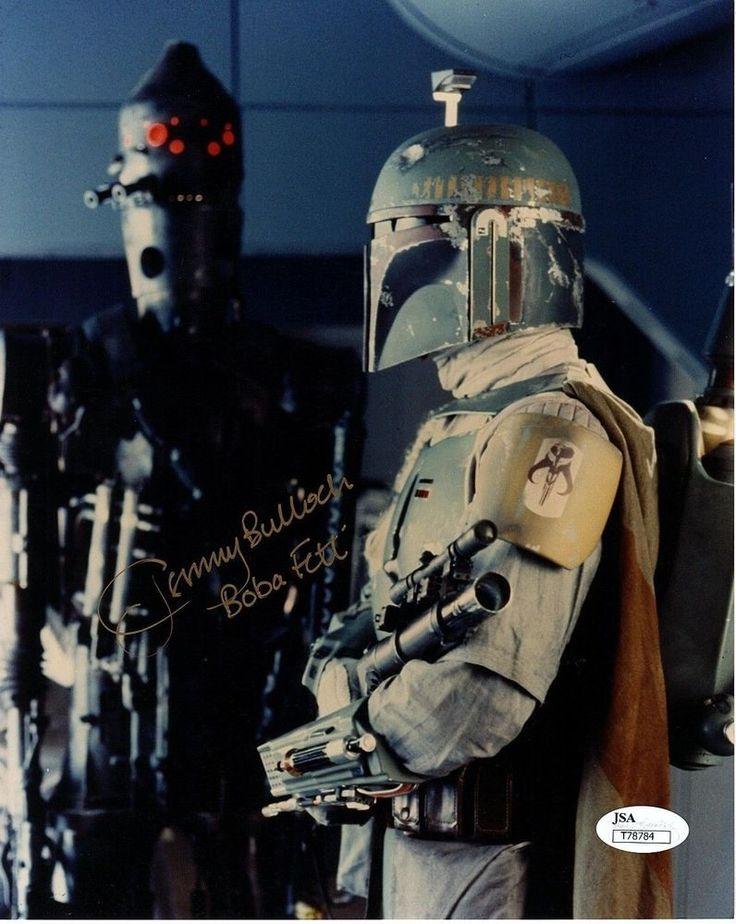 """JEREMY BULLOCH Signed STAR WARS """"Boba Fett"""" 8x10 Photo PSA/DNA #T78784"""