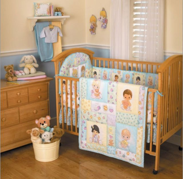 Precious moments nursery set... I used to collect these so it is perfect and it can be unisex!