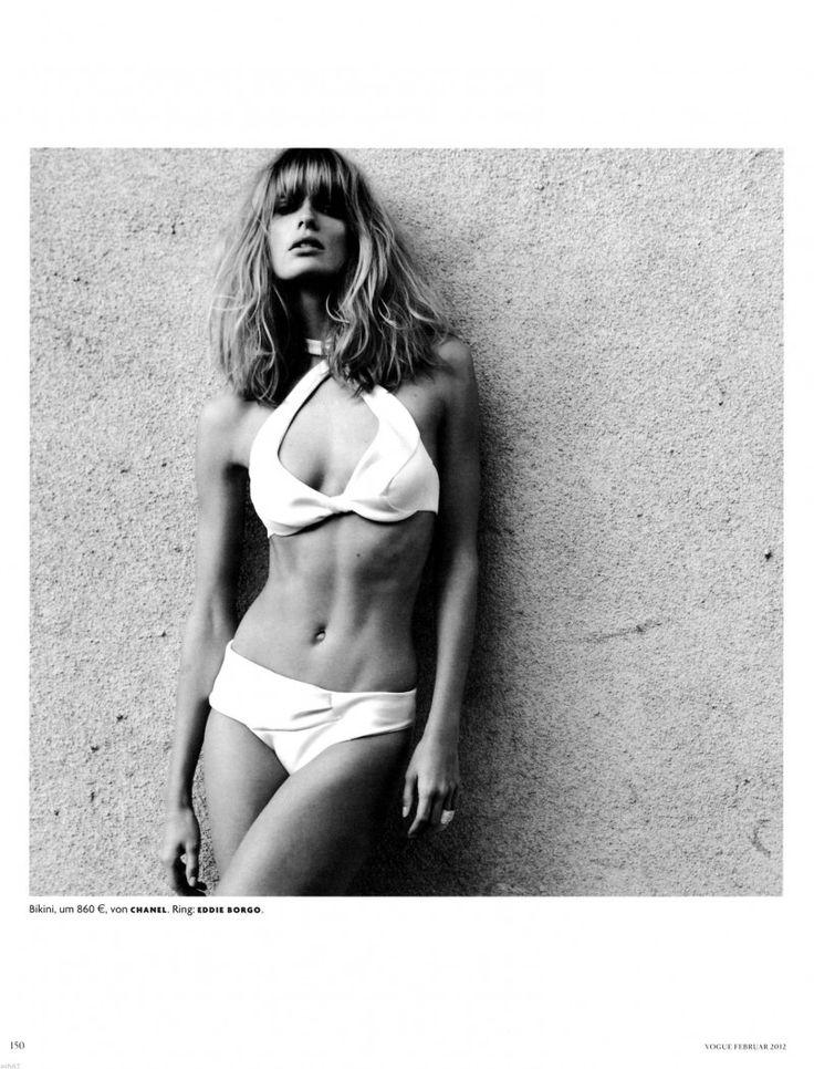 Dreaming of a getaway. / Vogue Germany- Julia Stegner by Greg Kadel / White bikini style.