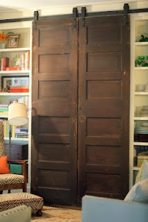 Sliding tv coverThe Doors, Living Rooms, House Ideas, Barn Doors, Rustic Doors, Family Rooms, Barns Doors, Families Room, Sliding Doors