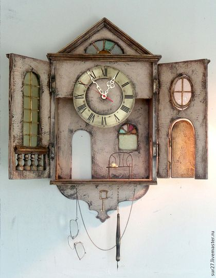 """Часы для дома ручной работы. Ярмарка Мастеров - ручная работа. Купить Часы """"Пьесы Чехова"""". Handmade. Часы, на заказ, проволока"""
