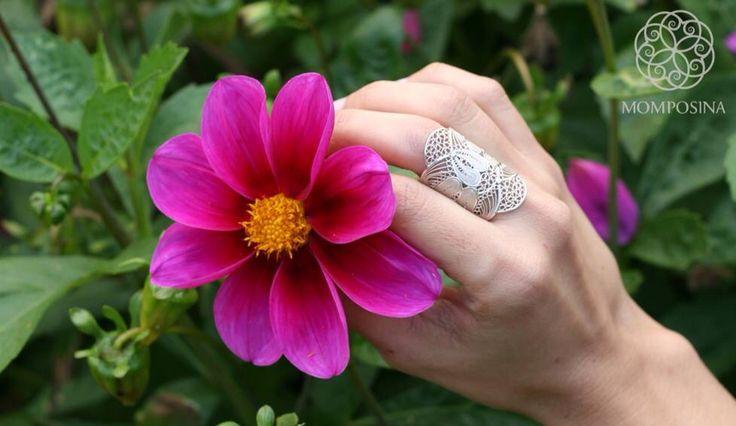 Astonishing hand-made filigree ring in sterling silver! www.momposina.co.uk Social enterprise helping Colombian artisans build more prosperous futures.