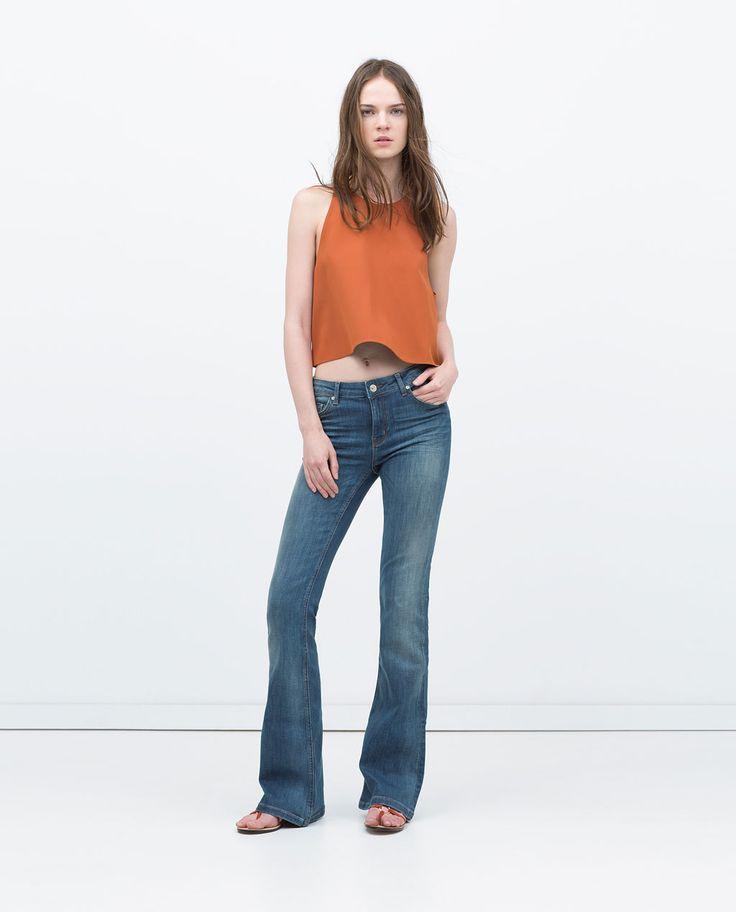PANTALÓN DENIM FLARE de Zara 39,95 €