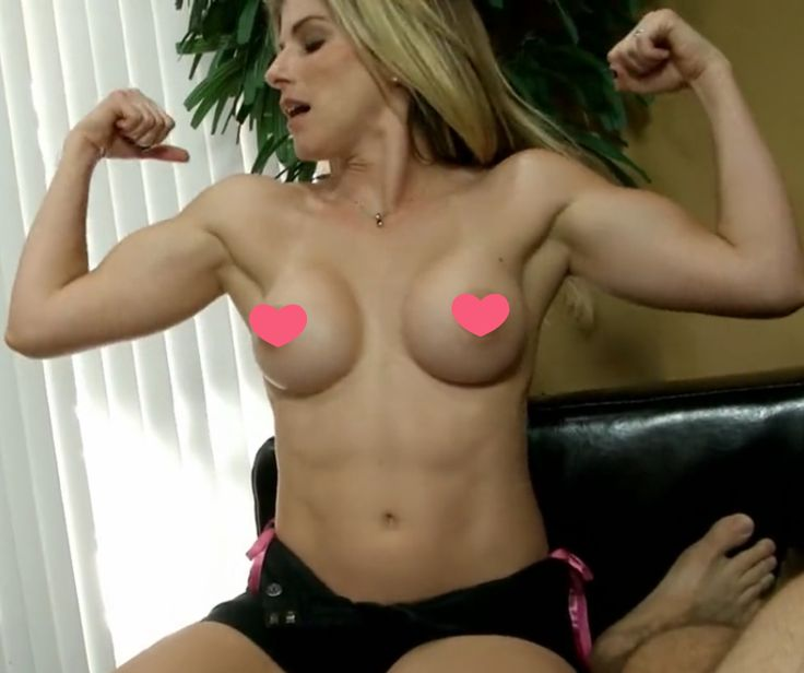 Hot blonde girl flexing her gorgeous biceps in front of her boyfriend. http://yugoporn.com/flexing-biceps-and-doing-blowjob-1576.html