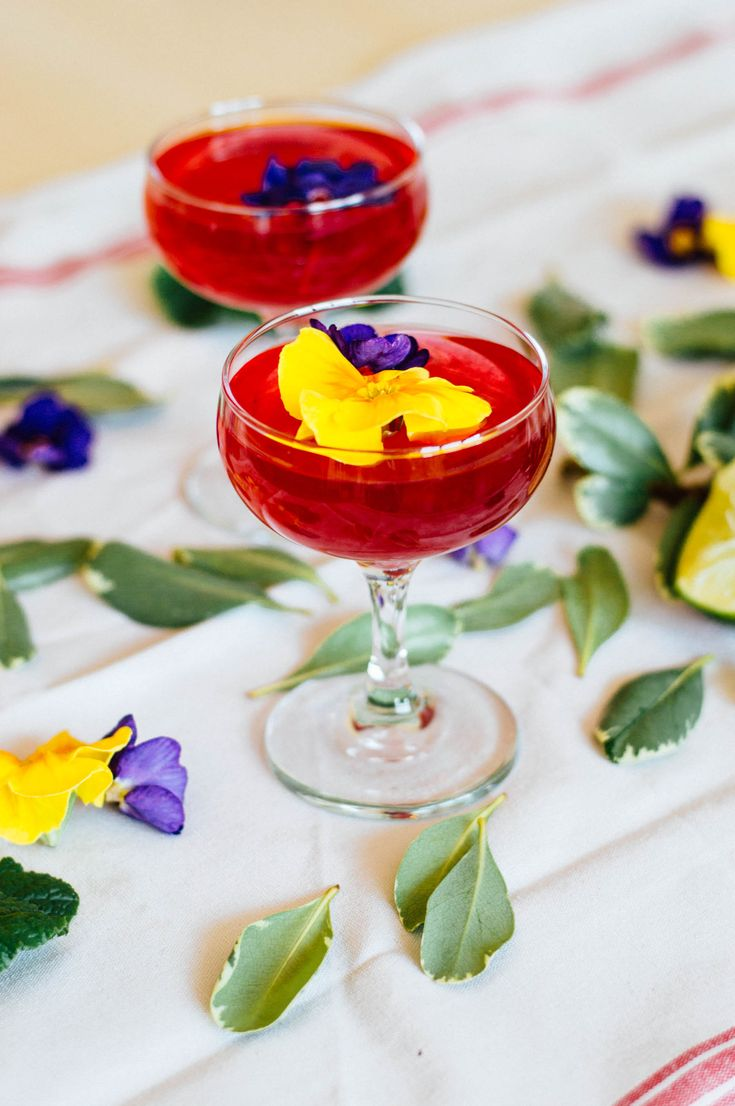 An herbal, easy to make Hibiscus Gin Gimlet cocktail recipe to kick off your weekend the right way. It's got botanical notes and a hint of sea salt - yum!