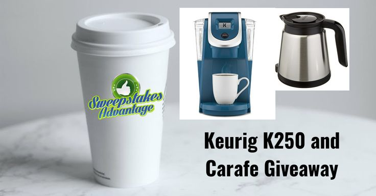 Win a Keurig 250 and Carafe from @SweepsAdvantage. The Largest Directory of Online Sweepstakes! #sweepstakes