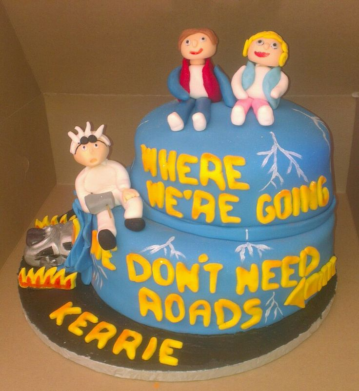 Kerrie's Back to the Future cake