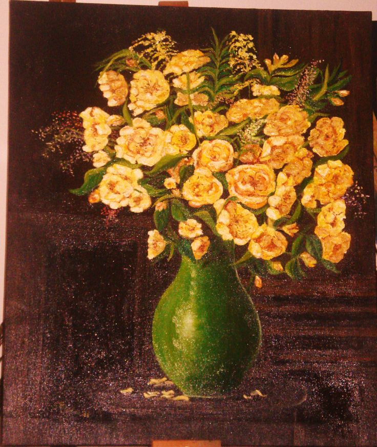 Peonie gialle olio su tela 50 x 60 -  2009