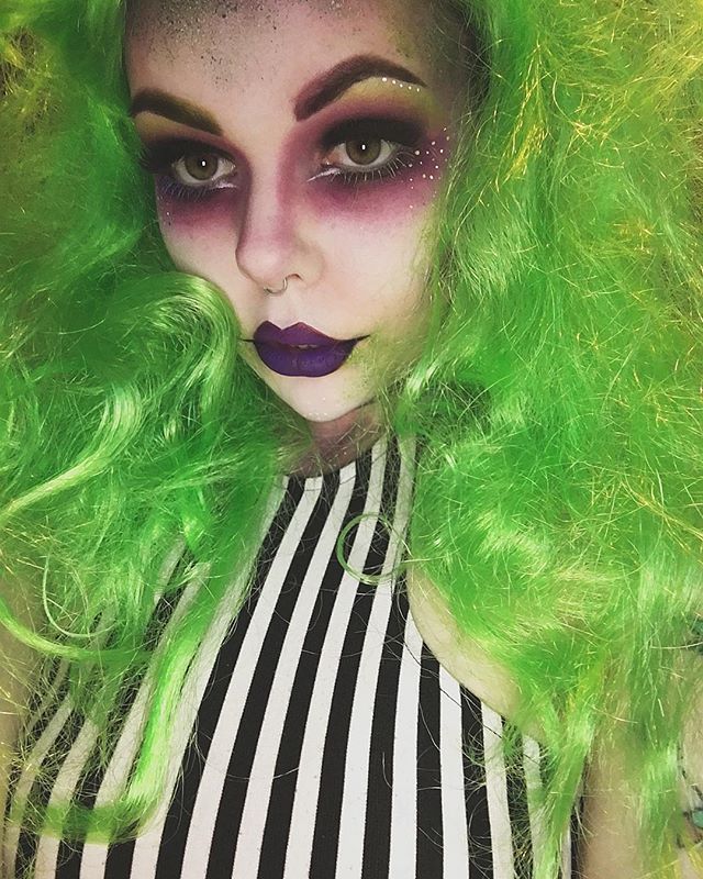 Last nights costume  A wearable version of Beetlejuice!  What did you guys get up to for Halloween? I ate a lot of pizza/candy and watched 80's horror movies  Hope everyone had an amazing and safe night!                                                                                                                                                     More