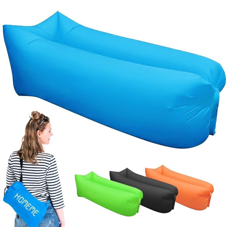 Inflatable Lounger, Portable Air Beds Sleeping Sofa Couch for Travelling, Campin #Homeme