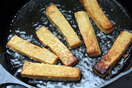 Panisse recipe-made from chickpeas.  David Leibovitz.
