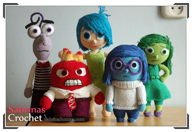 Sadness - Inside Out - Free Crochet Pattern - Amigurumi