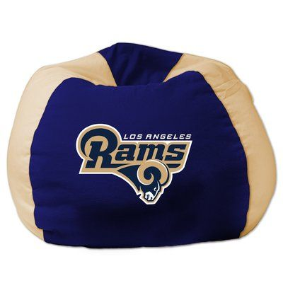 NFL Rams Bean Bag Chair - http://delanico.com/bean-bag-chairs/nfl-rams-bean-bag-chair-736257373/