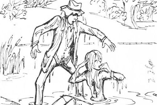 Storyboard by Ken Anderson