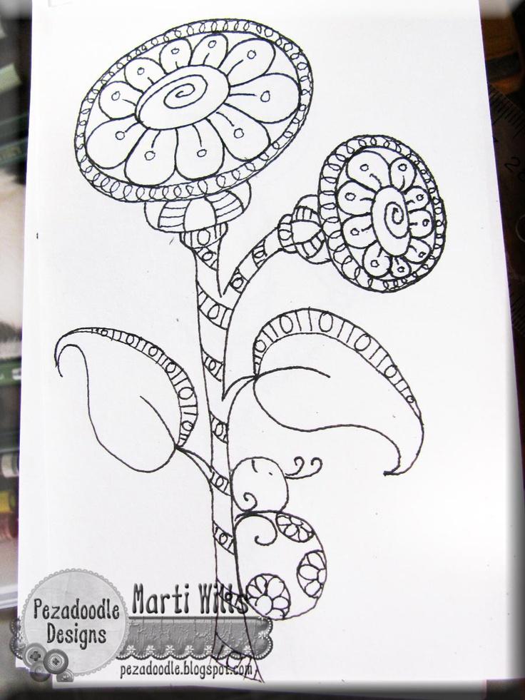 : Pezadoodl Design, Doodles Li Do, Doodles Drawings, Doodles Flowers, Pez A Doodles Design, Flowers Doodles, Zentangle Doodles, Doodles Tangled