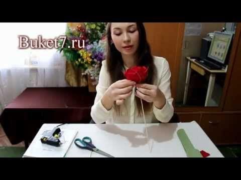 ▶ Розы из конфет видео мастер-класс - YouTube
