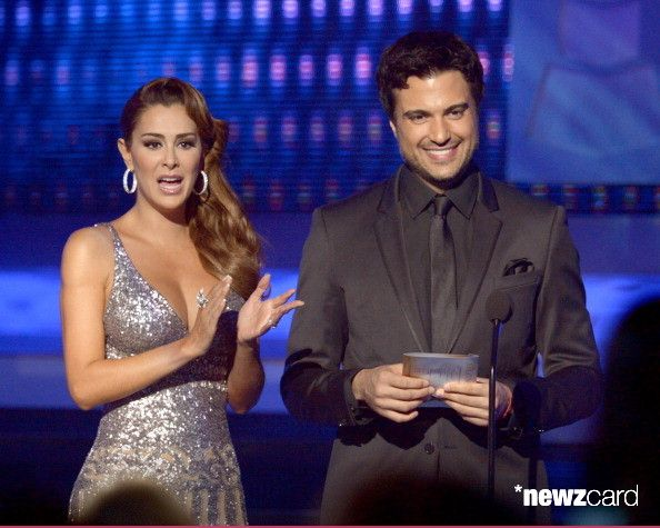 Presenters Ninel Conde (L) and Jamie Camil speak onstage during the 13th annual Latin GRAMMY Awards held at the Mandalay Bay Events Center on November 15, 2012 in Las Vegas, Nevada.  (Photo by Kevin Winter/WireImage)