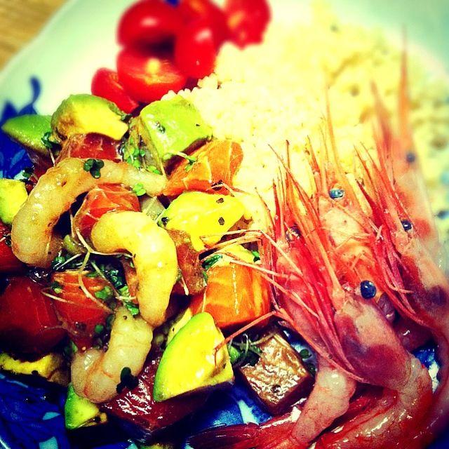 有機インゲンと牛蒡のお味噌汁に甘エビのお頭入れたら美味しかったー♡ - 48件のもぐもぐ - ロミロミサーモン by tayuko