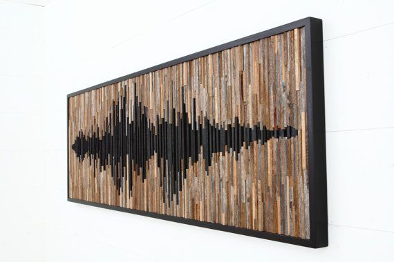 Wood wall art abstract sound wave Different от CarpenterCraig