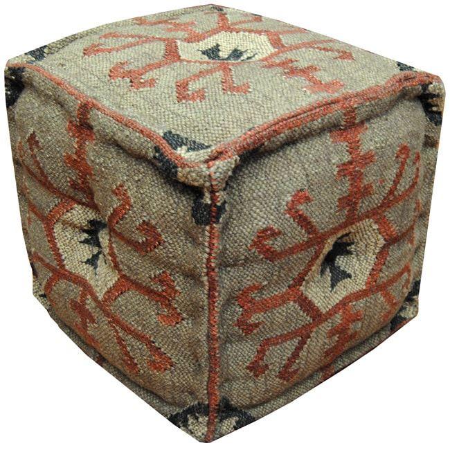 Handmade Herat Oriental Indo Handmade Ottoman Pouf