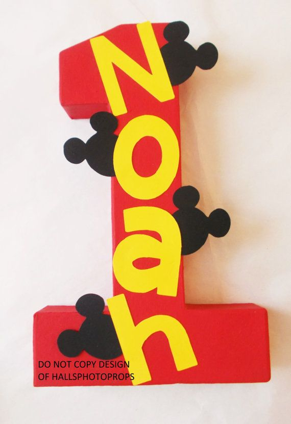 Mickey Mouse centerpiece birthday number Minnie by Hallsphotoprops