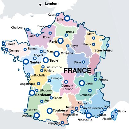 Best Map Of France Ideas On Pinterest France Map Map Of - Major cities in france