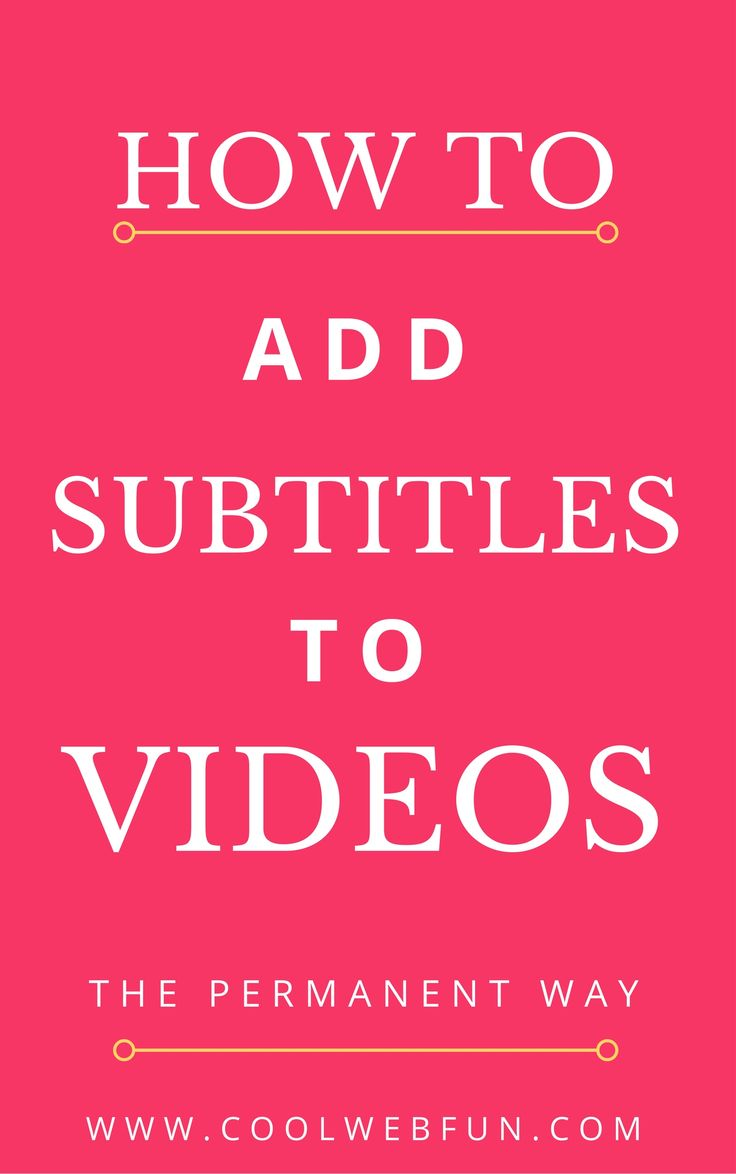 How to add subtitles to videos? You can add subtitles to vlc player permanently. Just sync the srt files with vlc player and follow the steps to add permanently & convert it to any format. Check http://www.coolwebfun.com/how-to-add-subtitles-to-a-video/