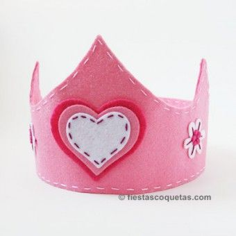 Corona princesa de fieltro