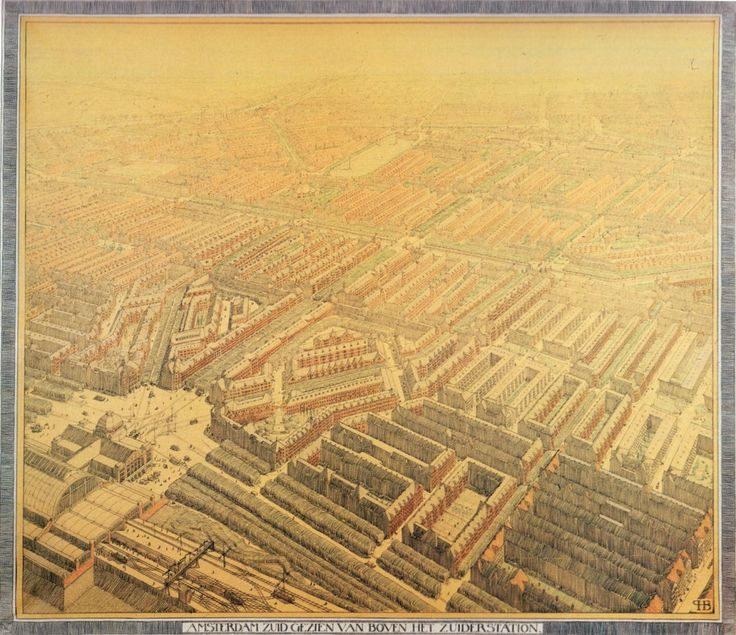 Intersections of Architecture and Urbanism in the Emerging Modern City   H.P. Berlage, South Amsterdam Plan (1914-1917)