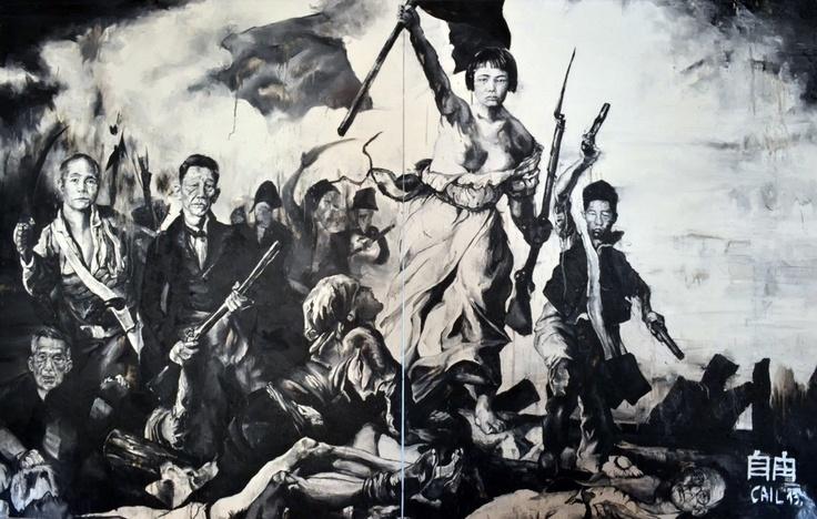 La liberté, 190x300cm - Etienne Cail   Peinture historique