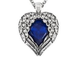 Titanic Jewelry Collection (Tm) Ida's Where You Go, I Go Angel Wing Necklace