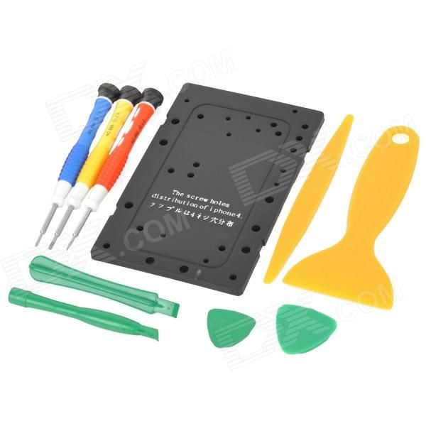 Color: Yellow; Brand: BEST; Model: BST-603; Quantity: 1 Set; Material: Plastic; Compatible Models: Iphone series; Screw Driver: 0.8-2 +1.5; Packing List: 1 x Screw plate for Iphone3 x Screwdrivers2 x Triangle picks2 x Plastic crowbars1 x Scraper1 x Pry plate; http://j.mp/1v2Uq10