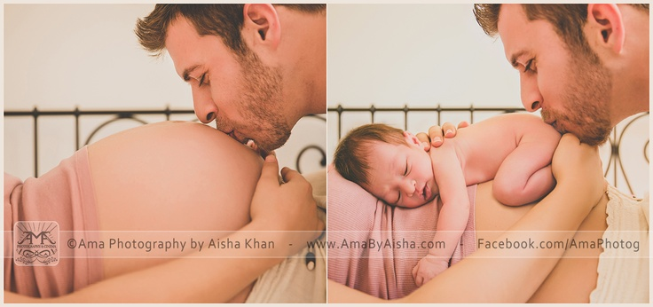 Houston Maternity & Newborn Photo Session. Before and After…